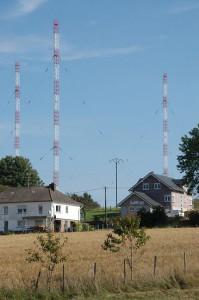 """Die RTL Sendeanlagen auf """"Schwaarzenhiwwel"""" in Marnach ©Nico Muller"""