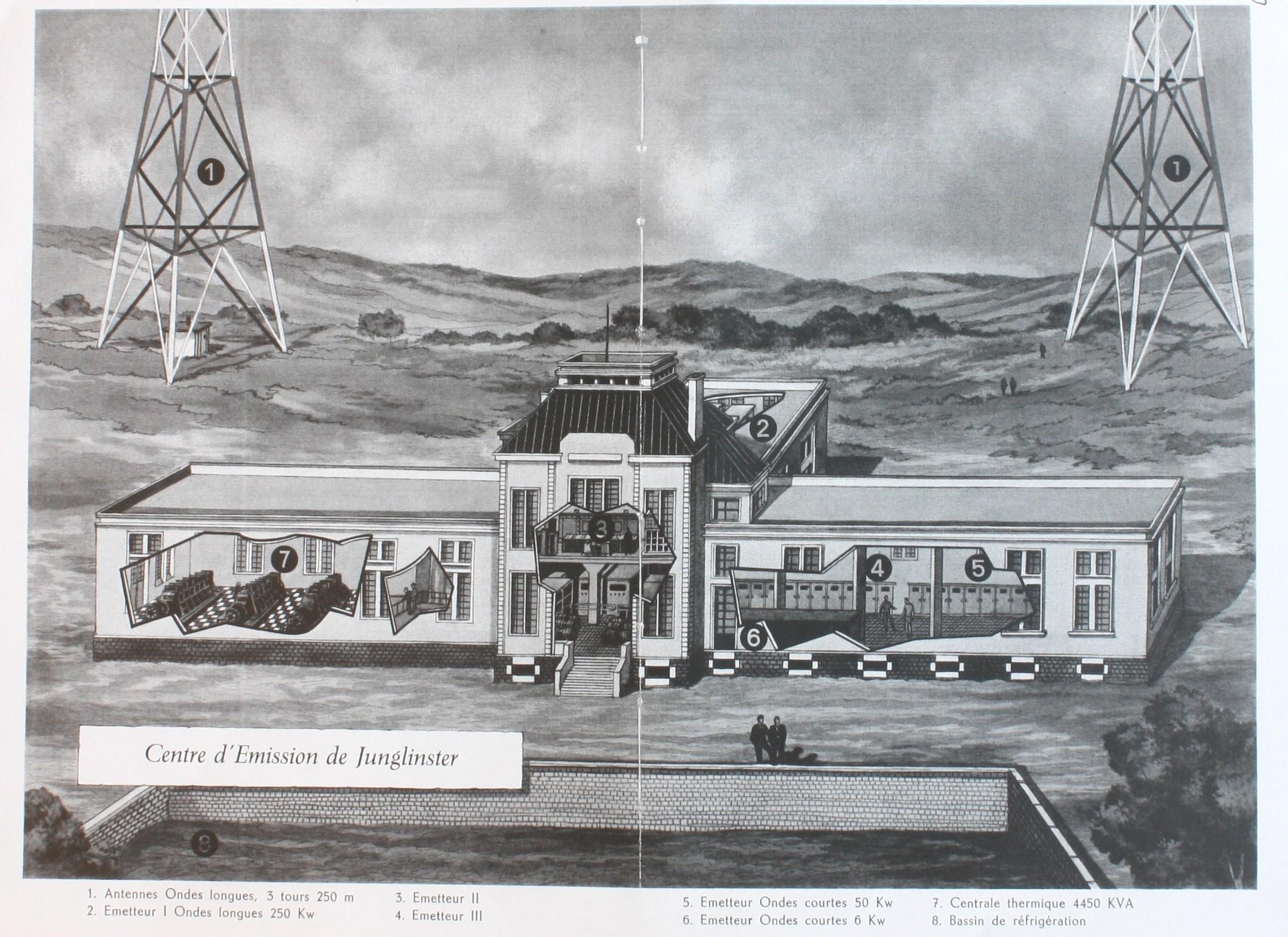 Source: Robert Tabuis, Au carrefour de l'Europe. Radio, Télé Luxembourg, Compagnie luxembourgeoise de Télédiffusion:Paris 1962.